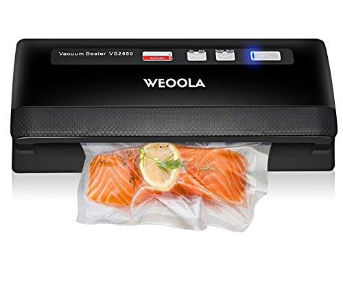 Vacuum Sealer/Food Sealer Machine,Automatic Vacuum Air Sealing System for Food Preservation, Sous Vide,Clothes and Mason Jar | 3 sealing options | 4 Food Modes | Led Indicator Lights | 10 Sealer Bags
