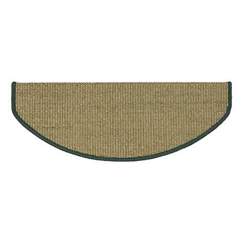 Meisterei Teppich Stufenmatten Treppenstufen 100% Sisal Natur (ca. 24 x 65 cm, grün)
