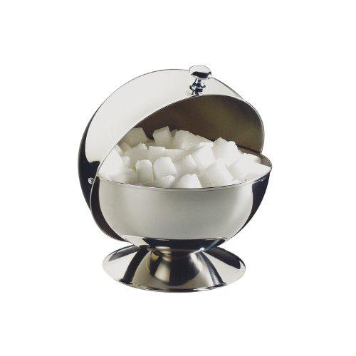 APS Zuckerdose mit Rolldeckel, Edelstahl, Silber, 13,5 x 13,5 x 15 cm