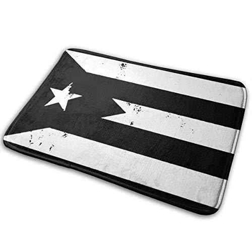 Zerbino per ingresso con bandiera del Portoricano, stile retrò, antiscivolo, per bagno, cucina, bagno, 80 x 50 cm