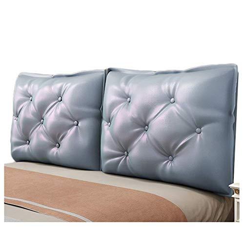 QIANCHENG-Cushion Tapizado Cabeceros De Cama Cojines Almohadilla de Cintura con Respaldo de cuñas Doble PU Estuche Blando Respaldo Suave del Dormitorio casero Fácil de Limpiar, 5 Colores