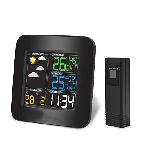 A+ interne draadloze digitale thermometer voor weerstations met helder LCD-scherm, nauwkeurige interne temperatuur en vochtigheid, dubbel alarm Style A