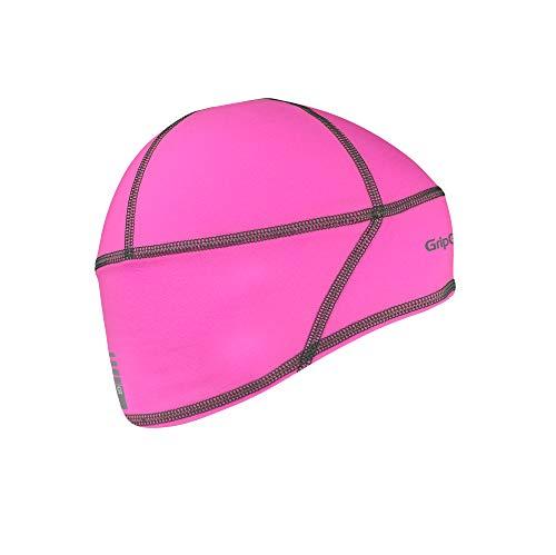 GripGrab Leichte Thermal Unterhelm Mütze Kopfbedeckung, Pink Hi-Vis, M (57-60 cm)