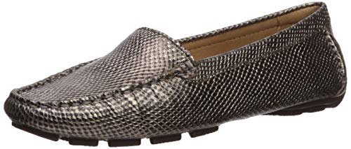 Driver Club USA Womens Leather Made in Brazil Hampton Driver Loafer, Chrome Cobra, 5.5 M US