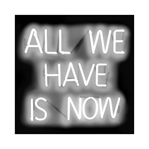 DìMò ART Druck auf Leinwand auf Leinwand, Motiv Carr Hailey Neon All We Have is Now WB
