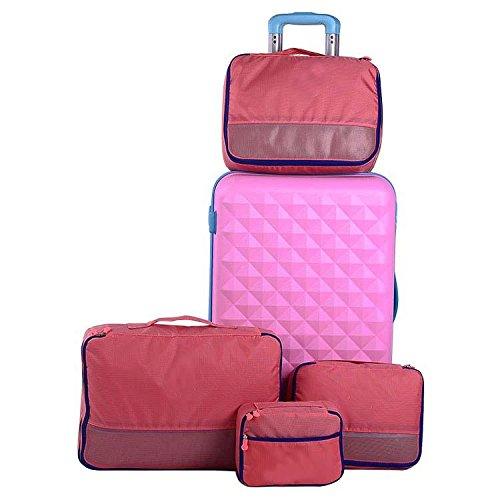 MZP Situé dans les sacs de finition des vêtements sac de voyage Voyage vêtements sac de rangement points de sac coréen bagages imperméable à l'eau , pink