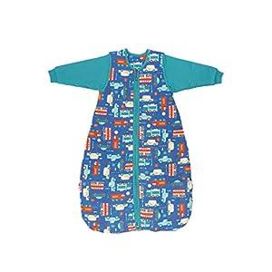 Schlummersack Saco de dormir para bebé, modelo invernal, con mangas desmontables, 3,5 tog, 110 cm, para niños de 12 a 36…