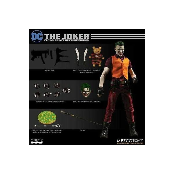 Mezco One:12 Collective The Joker Clown Prince of Crime Standard 6