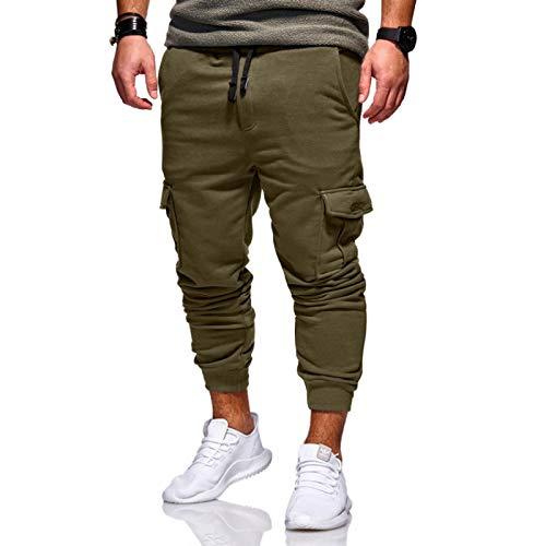 ShFhhwrl Vaqueros de Moda clásica Pantalones Cargo Casuales para Hombre, Pantalones Deportivos para Gimnasio, Pan