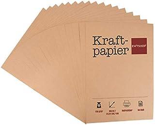 Lot de 50 feuilles de papier kraft kraft Marron Format A4 Qualité supérieure 170 g