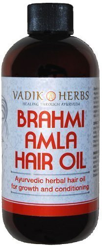 Brahmi-Amla Hair Oil, 4 oz. - Promotes excellent hair growth and conditioning by Vadik Herbs