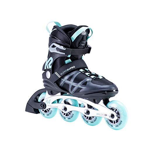 K2 Skates Damen ALEXIS 84 PRO Inline Skates, black-light blue, 34 EU (1.5 UK)
