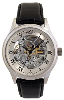 Rotary Men's Automatic Watch with Silver Dial Analogue Display and Black Leather Strap GS02518/06 (B001EIY5X0) | Amazon price tracker / tracking, Amazon price history charts, Amazon price watches, Amazon price drop alerts