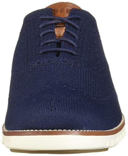 Cole Haan Men's Zerogrand Stitchlite Wingtip Oxford, Marine Blue/Ivory, 7.5 Medium US