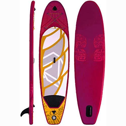 MROSW Erwachsene Stehen Aufblasbares Surfbrett, Outdoor Fitness Entertainment SUP Wakeboard 5 Stück, (Farbe: Rot, Größe: 305X76x15cm