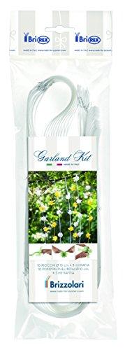 Brizzolari Kit Ghirlande per Auto Sposi Matrimonio, Set Decorazioni Addobbi, Bianco