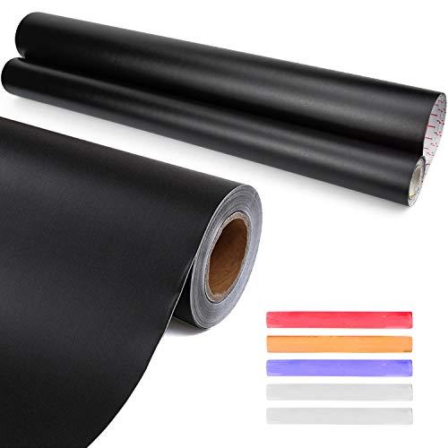 Inntek Pizarra Pegatina Adhesiva,Pegatina Pizarra Extraíble,Papel de Pizarra Adhesivo, Vinilo Pizarra Negra 43CM*3M para Escribir Dibujar Borrar 30CM*5M Reutilizable con Tizas