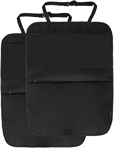 Amazon Basics - Organizador para asiento trasero de coche, con esteras protectoras (Pack de 2)