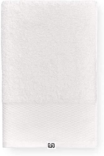 Calvin Klein Riverstone Toalla de Mano, Algodón orgánico, Crema, 70x140 cm