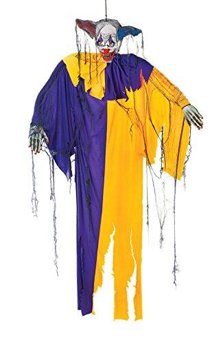 Bristol Novelty CLOWN 1,8 m, accessoire effrayant pour fête d'Halloween