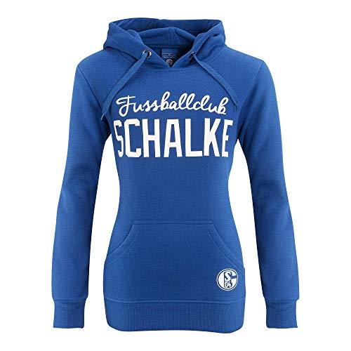 FC Schalke 04 Damen S04 Hoodie mit Kapuze und Fußballclub-Schriftzug in verschiedenen Größen