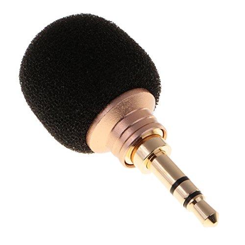 MagiDeal Mini Kondensator Mikrofon Richtmikrofon Geräte mit (3,5mm) Ausgang für Smartphone und Handy - Doppel Kanal
