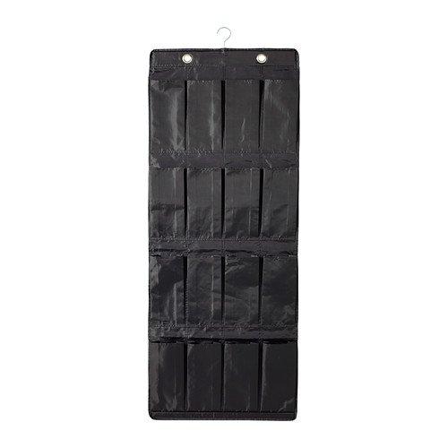 IKEA SKUBB Hängeaufbewahrung-Schuh-Organizer, 16 Taschen, B, schwarz, 29 x 21 x 15 cm