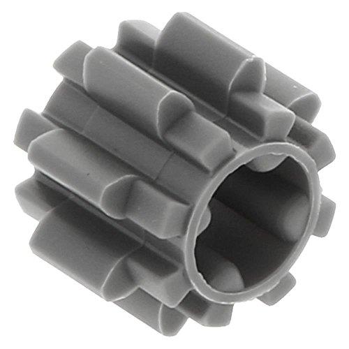 10 x LEGO® Technik, Zahnrad 8 Zähne Typ 2 Dunkelgrau (neu)