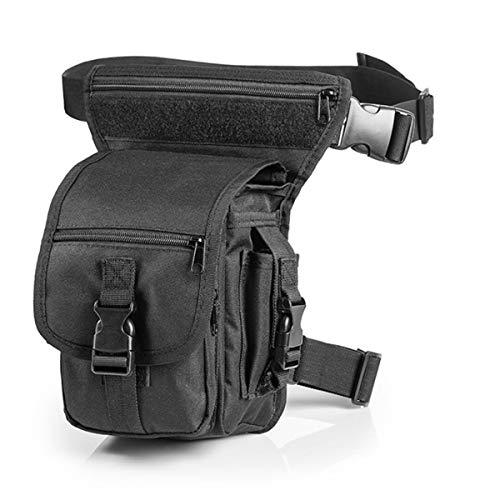QHIU Táctico Exterior Impermeable Pierna Cintura Bolsa y Herramienta Bolsillo Tamaño Tarjeta Utilidad Camuflaje Militar Deportes al Aire Libre