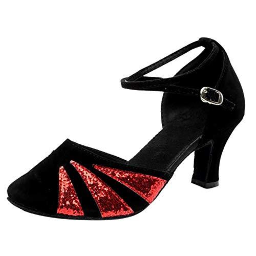 Binggong Geschlossen Tanzschuhe Standard & Latein Dance Schuhe Elegant Damenschuhe Abendschuhe Women Dancing Shoes Pumps Salsa Tango Ballschuhe