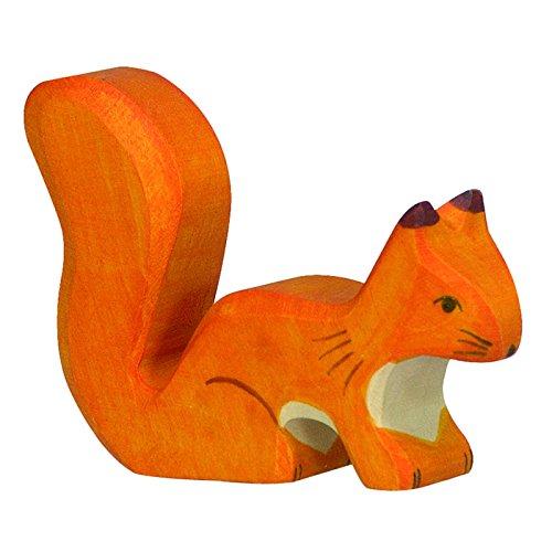Holztiger Eichhörnchen, stehend, orange, 80107