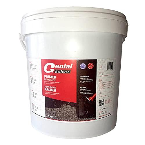 Genial Solver - PRIMER MEMBRANE - Sottofondo aggrappante per guaine bituminose- 5 kg