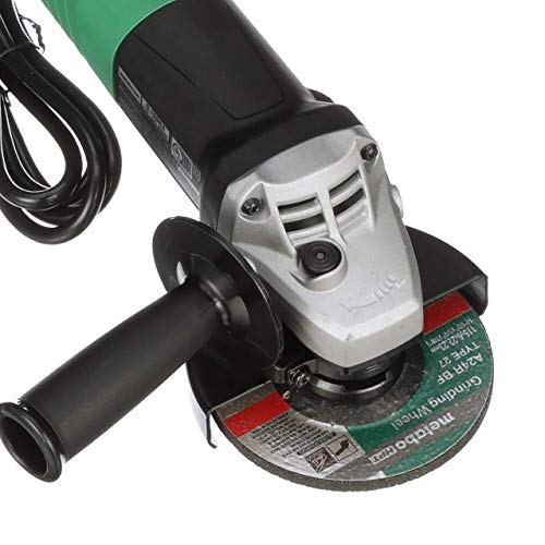Metabo HPT CA Tools G12SR4 4-1/2-Inch Angle Grinder, Includes 5 Grinding Wheels and Hard Case, 6.2-Amp Motor, Compact and Lightweight, 5 Year Warranty