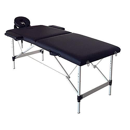 K-Y Massageliege klappbar höhenverstellbar Tragbare Faltbare Aluminium Massagetisch SPA Bett mit Tragetasche Schönheitssalon Therapie Massage Bett Behandlungstisch Mobile Massageliege