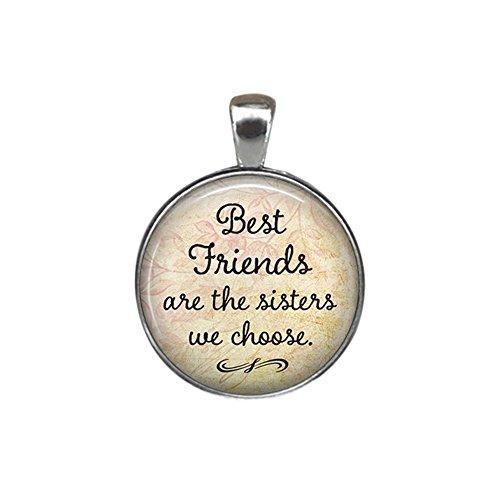 AchidistviQ Fashion Jewelry Best Friends Key Chain Glass Pendant Bag...