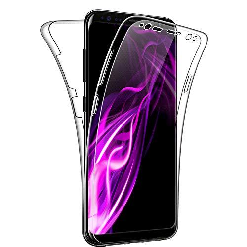 SDTEK Custodia per Samsung Galaxy S8 Protezione a 360° Custodia Full Body Cover Case Bumper Caso Trasparente Clear Silicone Gel per Samsung Galaxy S8