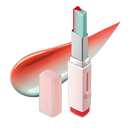 Snner 1 STÜCK NatüRlicher Feuchtigkeitsspendender Zweifarbiger Lippenstift Langlebige Lip Blam Wasserdichte TöNung Lip Bar Gradient Lippenstift Kosmetik (3 Pomelo Mint)