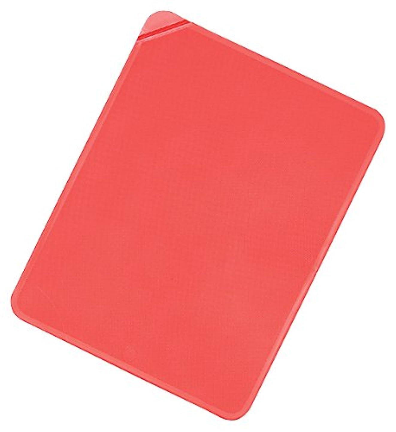 ストレス雰囲気偽造タイガークラウン シートまな板 赤 260×200×3mm カラーカラーマット レッド エラストマー 使い分け シール付 5651