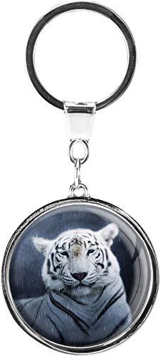 metALUm | Schlüsselanhänger Rund Metall Tiger 6601358