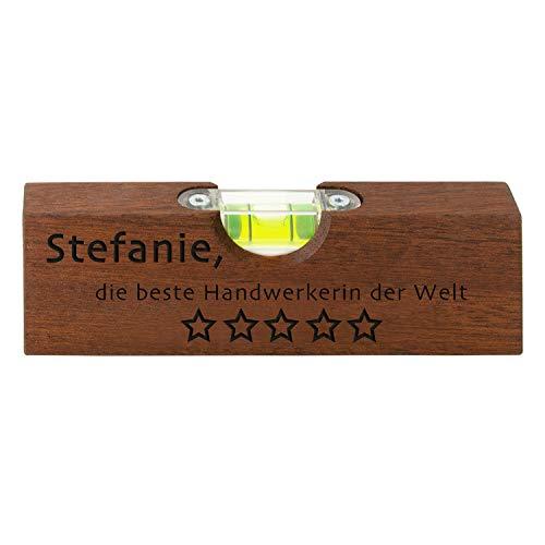 Waterpas beste ambachtslieden – gereedschap met flesopener voor doe-het-zelvers cadeau Wunschtext