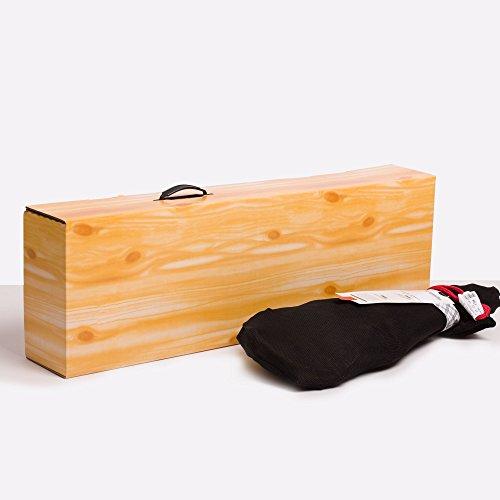 (5x) Pack Estuche para Jamón - Efecto Madera EXTRAFUERTES doble onda reforzada cartón estucado -...