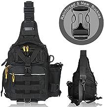 BLISSWILL Fishing Backpack Outdoor Tackle Bag Large Fishing Tackle Bag Water-Resistant Fishing Backpack with Rod Holder Shoulder Backpack (Black)