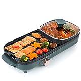 Uten Griglia elettrica portatile, Griglia per barbecue elettrica Scaldavivande per pentola calda per...