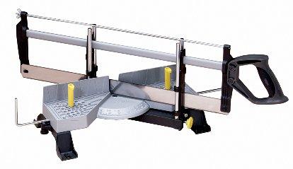 Stanley automatische Gehrungslade aus Metall mit Säge – Feinsäge mit Universalsägeblatt 13 Zähne/Zoll – 30, 45, 60 & 90° Winkel – 1-20-800