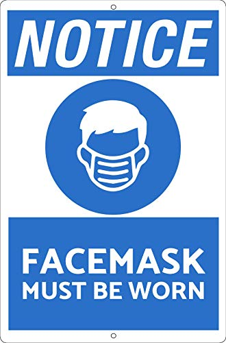 Hayloft Face Mask Sign | Face Mask Must Be Worn | Heavy Duty | Masks Required | Fade Resistant | Social Distancing | Indoor/Outdoor | Made in USA | Restaurant/Business/Office | Covid/Coronavirus Sign