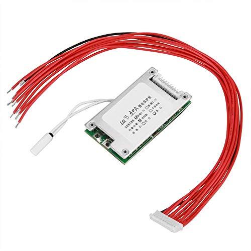 Tablero de protección de batería, 10S 36V 30A Li-Ion Cell 18650 Tablero de protección de batería BMS con función de equilibrio Estable Varias funciones de protección para descarga y carga