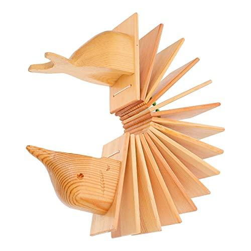 Holibanna Castañuelas de madera Castañuelas de dedo de madera Instrumento musical de...