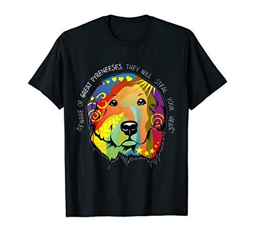 Great Pyrenees Patou Dog Artwork Painting T-Shirt