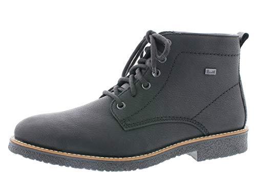 Rieker Herren Stiefel 33641, Männer Winterstiefel,riekerTEX, Man Freizeit leger Winter-Boots schnürstiefel warm,schwarz,45 EU / 10.5 UK