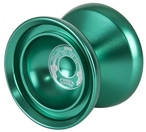 Duncan Toys Windrunner Yo-Yo [Green] - Unresponsive Pro Level Aluminum Yo-Yo with Double Rim, Concave Bearing, SG Sticker Response